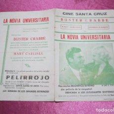 Cine: LA NOVIA UNIVERSITARIA BUSTER CRABBE PROGRAMA DE CINE DOBLE. Lote 73581139