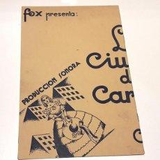 Cine: LA CIUDAD DE CARTÓN. 1933. CATALINA BÁRCENA Y ANTONIO MOR. TAMBIÉN GARY COOPER Y LIONEL BARRYMORE. Lote 73586431