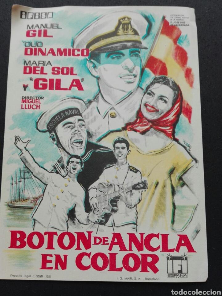 BOTÓN DE ANCLA (Cine - Folletos de Mano - Bélicas)