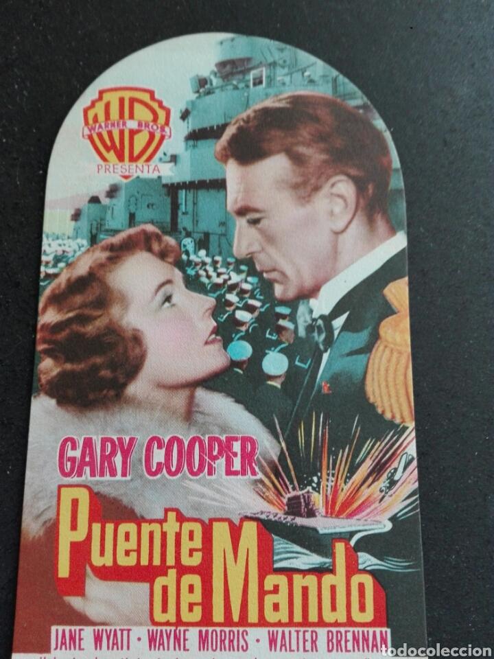 PUENTE DE MANDO CON GARY COOPER (Cine - Folletos de Mano - Bélicas)