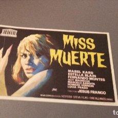Cine: PROGRAMA DE MANO ORIGINAL - MISS MUERTE - SIN PUBLICIDAD. Lote 121511700