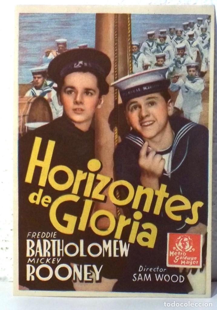 HORIZONTES DE GLORIA - CON PUBLICIDAD (Cine - Folletos de Mano - Acción)