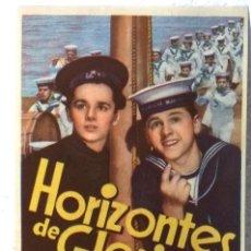Cine: HORIZONTES DE GLORIA - CON PUBLICIDAD . Lote 74299583