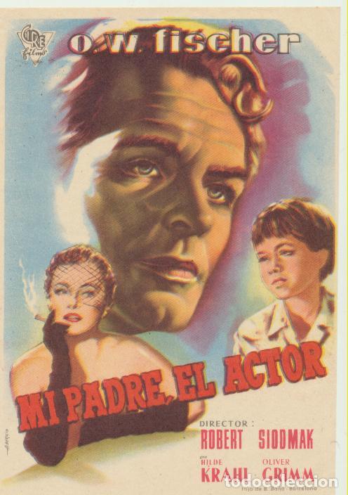 MI PADRE EL ACTOR. SENCILLO DE CIRE. (Cine - Folletos de Mano - Drama)