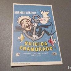 Cine: PROGRAMA DE MANO ORIGINAL - SUICIDA ENAMORADO - SIN PUBLICIDAD. Lote 74350047