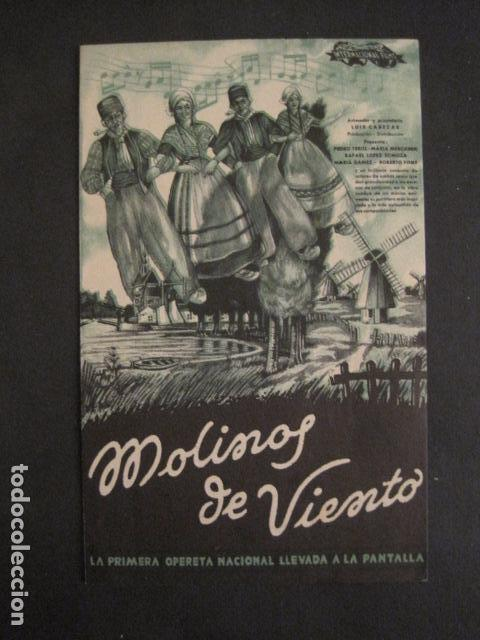 MOLINOS DE VIENTO - DOBLE - CINE PARQUE RECREATIVO -VER FOTOS -(C-3103) (Cine - Folletos de Mano - Aventura)