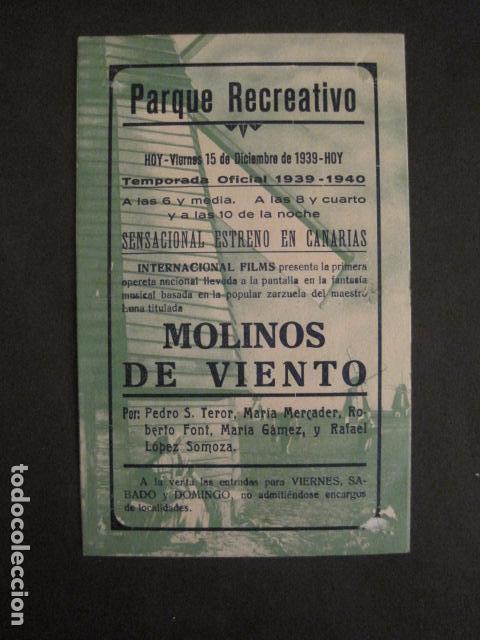 Cine: MOLINOS DE VIENTO - DOBLE - CINE PARQUE RECREATIVO -VER FOTOS -(C-3103) - Foto 3 - 74462987