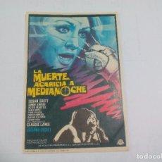 Cine: LA MUERTE ACARICIA A MEDIANOCHE. TERROR. SIN PUBLICIDAD. PROGRAMA DE MANO ORIGINAL FOLLETO DE CINE . Lote 74622479