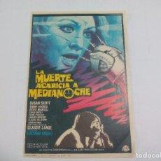 Cine: LA MUERTE ACARICIA A MEDIANOCHE SUSAN SCOT SIN PUBLICIDAD PROGRAMA DE MANO ORIGINAL FOLLETO DE CINE . Lote 74622983