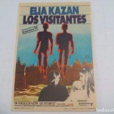 Cine: ELIA KAZAN LOS VISITANTES SIN PUBLICIDAD PROGRAMA DE MANO ORIGINAL FOLLETO DE CINE . Lote 74623191