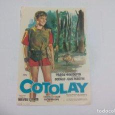 Cine: COTOLAY.. SIN PUBLICIDAD. PROGRAMA DE MANO ORIGINAL FOLLETO DE CINE . Lote 74721075