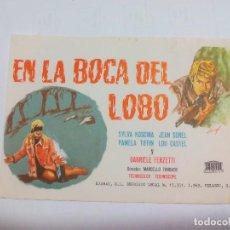 Cine: EN LA BOCA DEL LOBO. 1969. SYLVIA KOSCINA. SIN PUBLICIDAD. PROGRAMA DE MANO ORIGINAL FOLLETO DE CINE. Lote 74729855