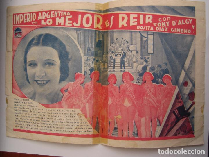 Cine: lo mejor es reir imperio argentina folleto de mano original estreno con cine impreso - Foto 2 - 75038719