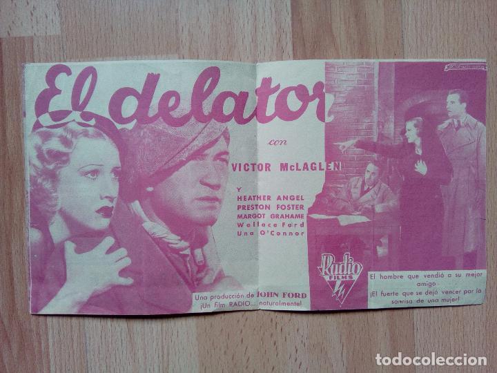 Cine: A--PROGRAMA DOBLE DE CINE --EL DELATOR - Foto 2 - 75060483