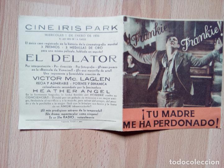 Cine: A--PROGRAMA DOBLE DE CINE --EL DELATOR - Foto 3 - 75060483