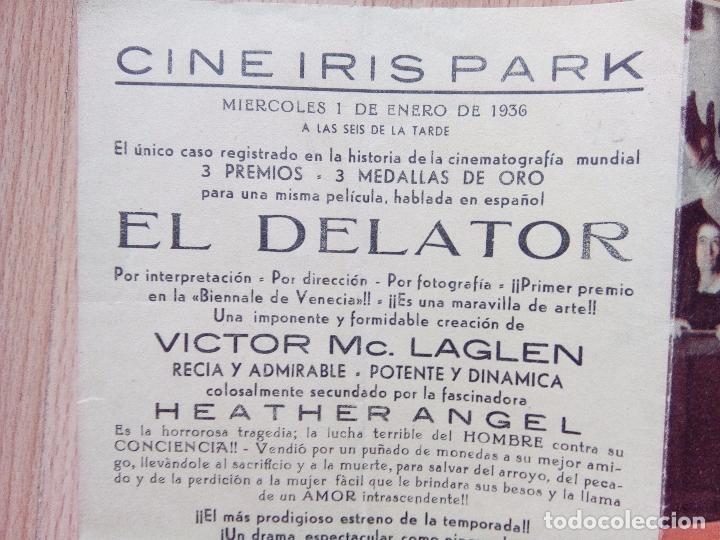 Cine: A--PROGRAMA DOBLE DE CINE --EL DELATOR - Foto 4 - 75060483