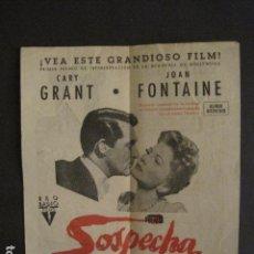 Cine: SOSPECHA - DOBLE - CINE COLISEUM -CUIDADO VENENO - VER FOTOS - (V-8901). Lote 75496459