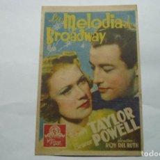 Cine: PROGRAMA LA MELODIA DE BROADWAY.-ROBERT TAYLOR. Lote 75653179