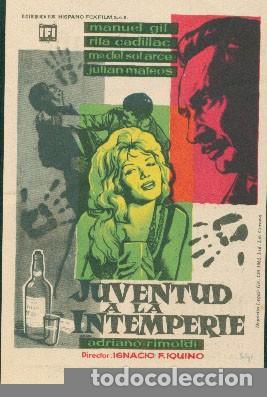 JUVENTUD A LA INTEMPERIE (Cine - Folletos de Mano - Clásico Español)