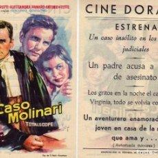 Cine: FOLLETO DE MANO EL CASO MOLINARI . CINE DORADO ZARAGOZA. Lote 76009475