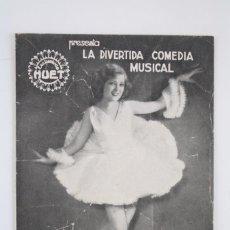 Cine: PROGRAMA CINE TRIPLE - DIPLOMÁTICO DE MUJERES - EXCLUSIVAS HUET, 1933. Lote 76478511