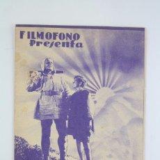 Cine: PROGRAMA DE CINE DOBLE - GUILLERMO TELL - FILMÓFONO, 1935. Lote 76481239