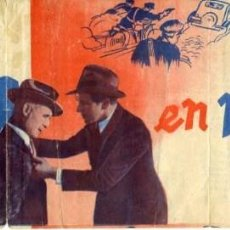 Cine: VIDAS EN PELIGRO. PROGRAMA DOBLE LARGO. REVERSO CINEMA CONDAL SALLENT 1942.. Lote 76692127