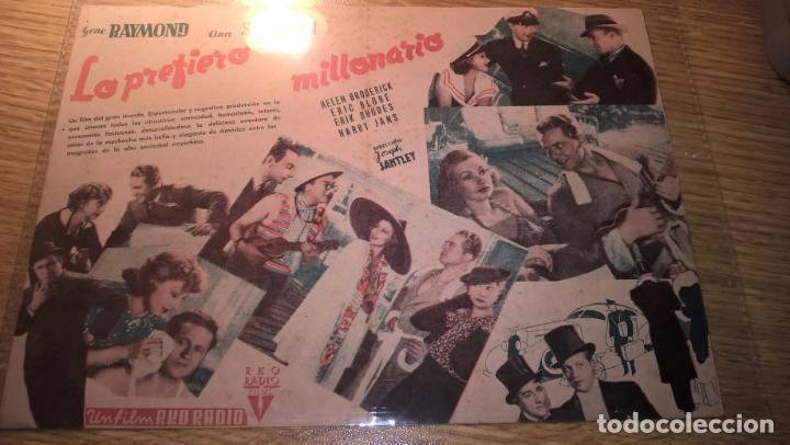 Cine: LO PREFIERO MILLONARIO, GENE RAYMOND, ANN SOTHERN. Saludo a Franco, Arriba España - Foto 2 - 76746019