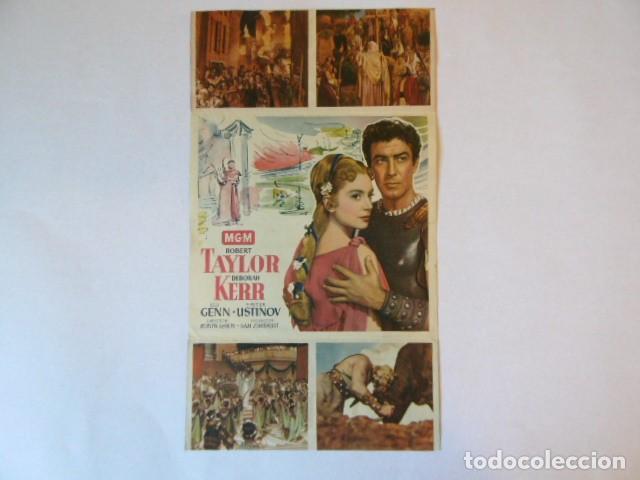 Cine: folleto de mano quo vadis, , cine albaniz. - Foto 2 - 76884411