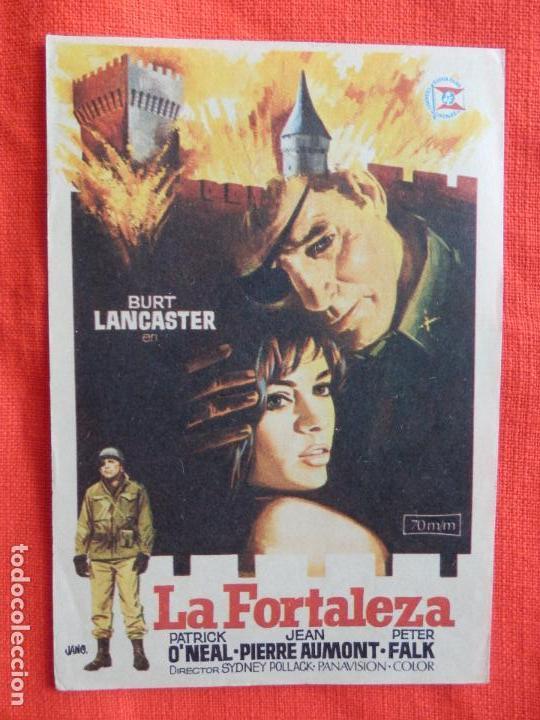 LA FORTALEZA, SENCILLO ORIGINAL EXCTE. ESTADO, BURT LANCASTER PATRICK O'NEAL, SIN PUBLICIDAD (Cine - Folletos de Mano - Bélicas)