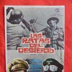 Cine: LAS RATAS DEL DESIERTO, SENCILLO ORIGINAL, RICHARD BURTON JAMES MASON, SIN PUBLICIDAD. Lote 77032137