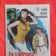Cine: LA LADRONA SU PADRE Y EL TAXISTA, IMPECABLE SENCILLO, SOFIA LOREN VITTORIO DE SICA, CON PUBLI URGEL. Lote 77052581