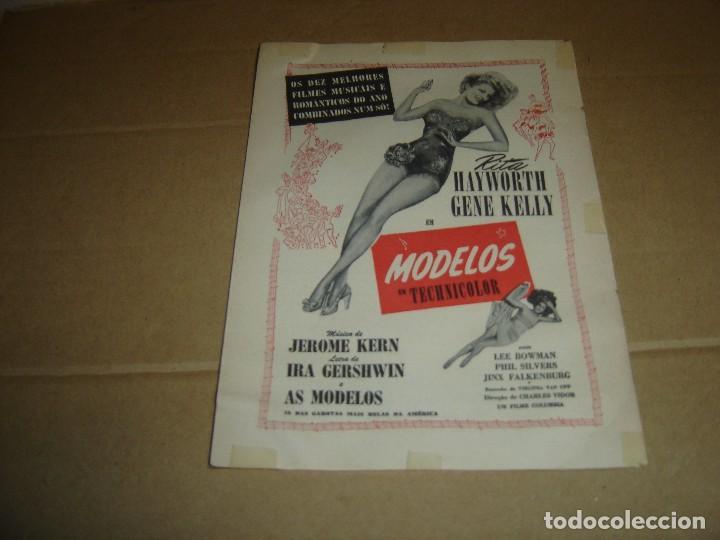 1944 PROGRAMA DE CINE FOLLETO DE MANO MODELOS EM TECHNICOLOR (Cine - Folletos de Mano - Musicales)