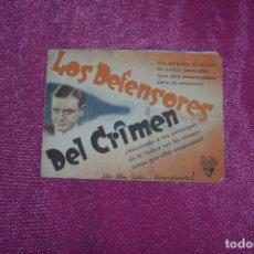 Cine: LOS DEFENSORES DEL CRIMEN PROGRAMA DOBLE RICHARD DIX MARGARET C2. Lote 77383709