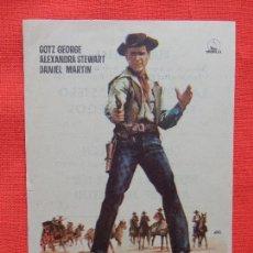 Cine: LA LEY DEL FORASTERO, IMPECABLE SENCILLO 1966, GOTZ GEORGE ALEXANDRA STEWART, PUBLICIDAD RUBI CINEMA. Lote 77440289