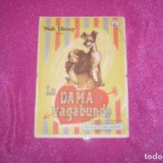 Cine: PROGRAMA LA DAMA Y EL VAGABUNDO - WALT DISNEY 1955 - DIBUJOS ANIMADOS. Lote 77454189