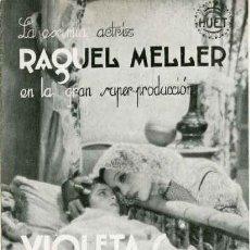 Cine: VIOLETAS IMPERIALES. PROGRAMA TRIPLE. REVERSO IMPRESO CINEMA ZORRILLA. AÑO 1933. Lote 77666029