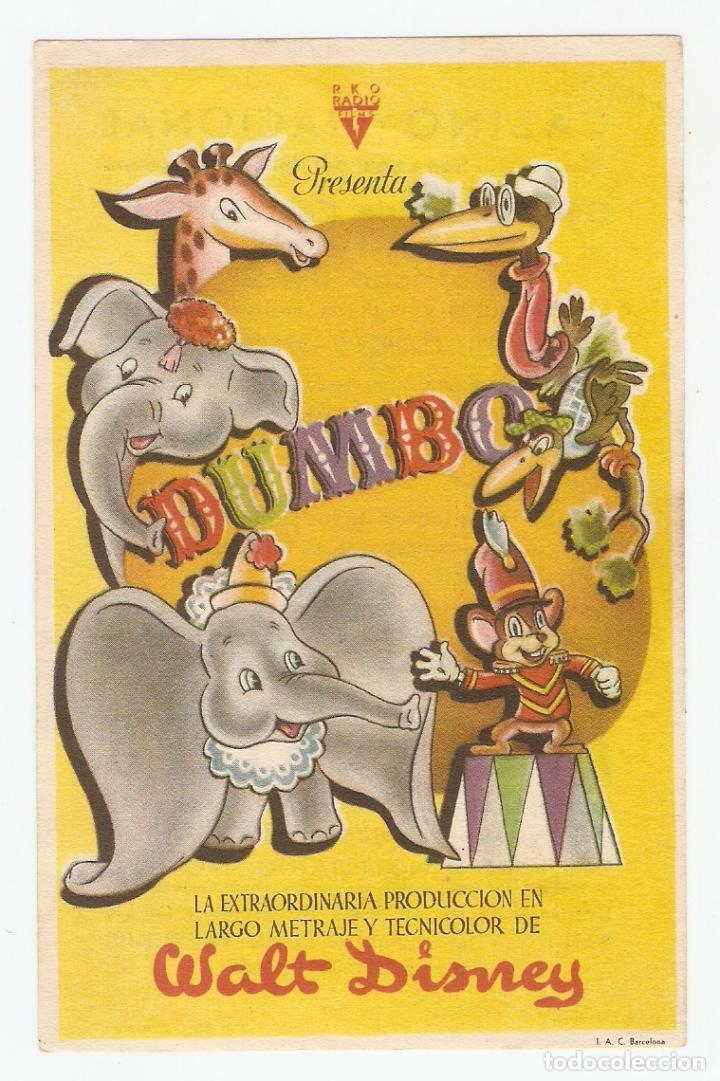 DUMBO - WALT DISNEY - RKO RADIO FILMS (Cine - Folletos de Mano - Infantil)