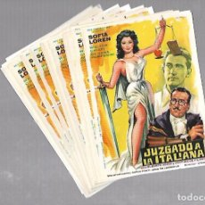 Cine: LOTE DE 50 PROGRAMAS DE CINE IGUALES. JUZGADO A LA ITALIANA. SOFIA LOREN. 11 X 16CM . Lote 78120629