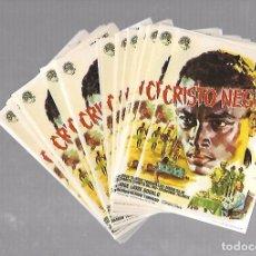 Folhetos de mão de filmes antigos de cinema: LOTE DE 50 PROGRAMAS DE CINE IGUALES. CRISTO NEGRO. JESUS TORDESILLAS. 9 X 15CM. Lote 78122321