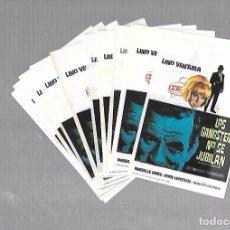 Cine: LOTE DE 50 PROGRAMAS DE CINE IGUALES. LOS GANGSTERS NO SE JUBILAN. LINO VENTURA. 9 X 13CM . Lote 78123273