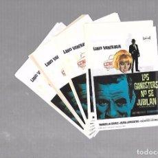 Cine: LOTE DE 50 PROGRAMAS DE CINE IGUALES. LOS GANGSTERS NO SE JUBILAN. LINO VENTURA. 9 X 13CM . Lote 78123313