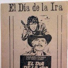 Cine: EL DÍA DE LA IRA (CON PUBLICIDAD). Lote 78187329