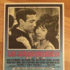Foglietti di film di film antichi di cinema: LOS GUARDAMARINAS. Lote 78394835