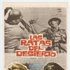 Cine: LAS RATAS DEL DESIERTO - RICHARD BURTON, JAMES MASON, ROBERT NEWTON - DIRECTOR ROBERT WISE. Lote 78822945