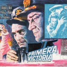 Flyers Publicitaires de films Anciens: PRIMERA VICTORIA , CON PUBLICIDAD. Lote 79039913
