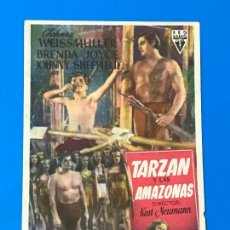 Cine: TARZAN Y LAS AMAZONAS - JOHNNY WEISSMULLER, BRENDA JOICE, JOHNNY SHEFFIEL - CINEMA REX . Lote 79145717