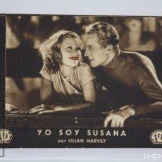 Cine: PROGRAMA DE CINE / TARJETA FOTOGRAMA - YO SOY SUSANA - FOX, AÑOS 30. Lote 79762405