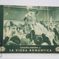 Cine: PROGRAMA DE CINE / TARJETA FOTOGRAMA - LA VIUDA ROMÁNTICA - FOX, 1933. Lote 79762921