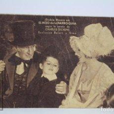 Cine: PROGRAMA DE CINE / TARJETA FOTOGRAMA - EL HIJO DE LA PARROQUIA - DICKIE MOORE - AÑO 1933. Lote 79764973